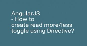 AngularJS - How to create read more/less toggle using Directive?