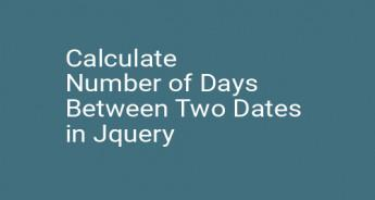 Calculate Number of Days Between Two Dates in Jquery