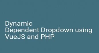 Dynamic Dependent Dropdown using VueJS and PHP