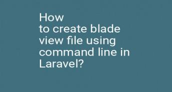 How to create blade view file using command line in Laravel?