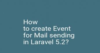 How to create Event for Mail sending in Laravel 5.2?