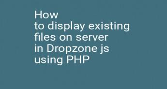 How to display existing files on server in Dropzone js using PHP