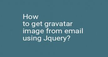 How to get gravatar image from email using Jquery?