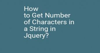 How to Get Number of Characters in a String in Jquery?