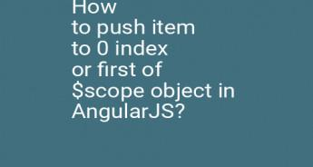 How to push item to 0 index or first of $scope object in AngularJS?