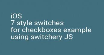 iOS 7 style switches for checkboxes example using switchery JS