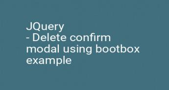 JQuery - Delete confirm modal using bootbox example