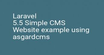 Laravel 5.5 Simple CMS Website example using asgardcms
