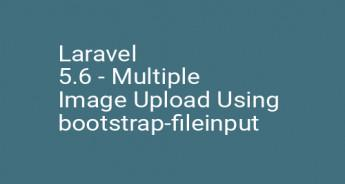 Laravel 5.6 - Multiple Image Upload Using bootstrap-fileinput