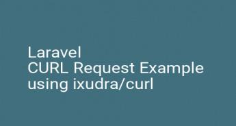 Laravel CURL Request Example using ixudra/curl