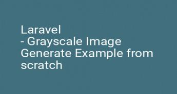 Laravel - Grayscale Image Generate Example from scratch