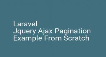 Laravel Jquery Ajax Pagination Example From Scratch