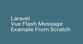 Laravel Vue Flash Message Example From Scratch