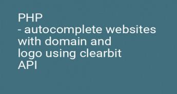 PHP - autocomplete websites with domain and logo using clearbit API