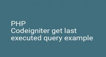 PHP Codeigniter get last executed query example