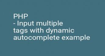 PHP - Input multiple tags with dynamic autocomplete example