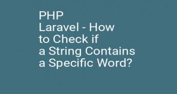 PHP Laravel - How to Check if a String Contains a Specific Word?
