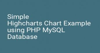 Simple Highcharts Chart Example using PHP MySQL Database