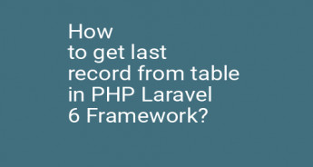 How to get last record from table in PHP Laravel 6 Framework?