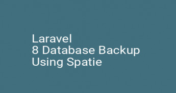 Laravel 8 Database Backup Using Spatie