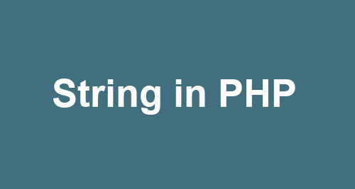 string in php